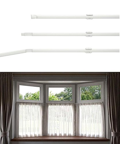 Flexi Net Bay Window Rod Size 475cm 187 Ideal For All Window Shapes
