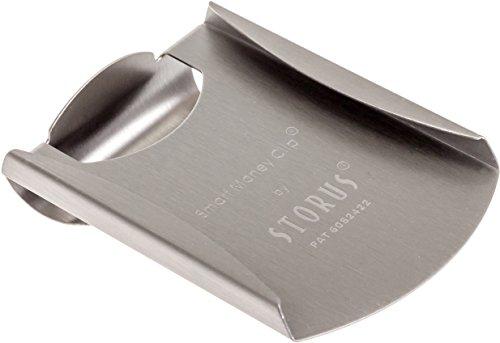 Storus Men's Stainless Steel Smart Money Clip (Brushed)