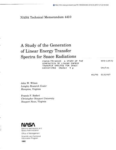 A Study Of The Generation Of Linear Energy Transfer Spectra For Space Radiations