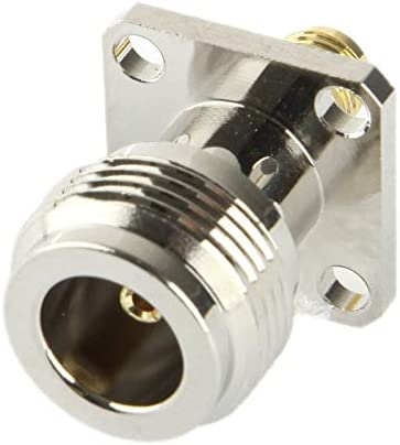 ZQ House SMA Female to N Female Adapter Silver Durable
