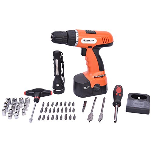 78-Piece 18 Volt 110V Cordless Drill Set Construction Work Screwdriver - By Choice Products by By Choice Products