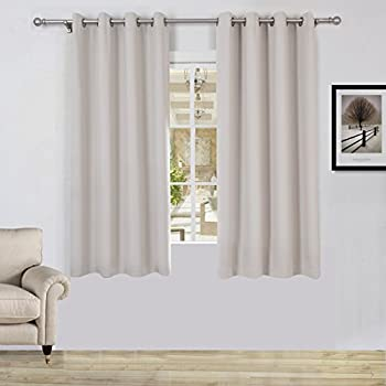 best home fashion thermal insulated blackout curtains antique bronze grommet top. Black Bedroom Furniture Sets. Home Design Ideas