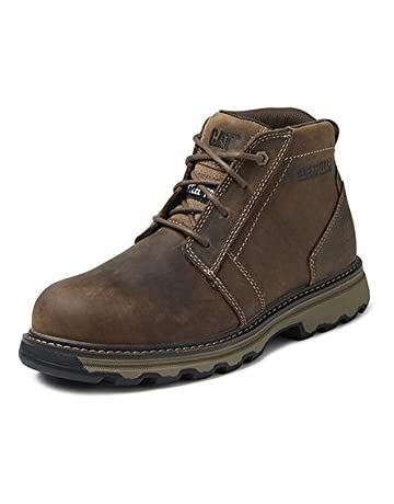 0dc30ebf Caterpillar Cat Parker Brown/Tan SBP Work Safety Boots Steel Toe & Midsole