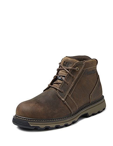 Boots Parker Lightweight Leather Safety Workwear Mens CAT marron S1P wSzxFApRq