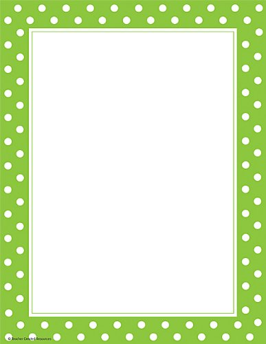 Polka Dot Paper (Teacher Created Resources Lime Polka Dot Computer Paper)