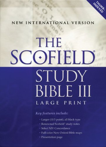 The Scofield® Study Bible III, Large Print, - Leather Arno