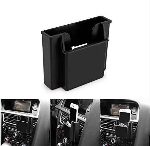 Car Storage Box Car Air Vent Organizer Multifunctional Car Phone Holder Pocket Box Organizer Black Mobile Phone Storage Box: