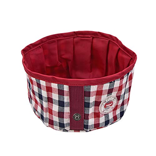 Puppia Neil Round Portable Bowl, Wine, One Size by Puppia