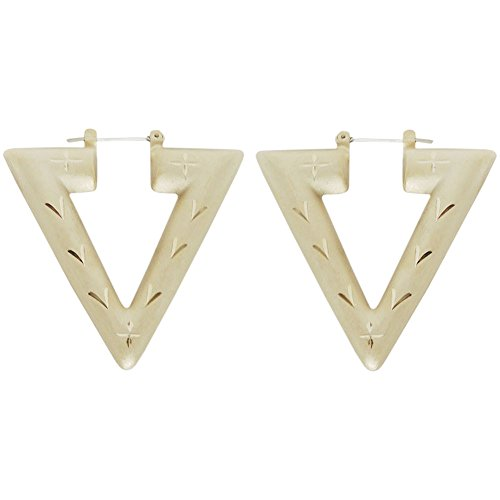 Reduced! Truly Vintage Triangle Door Knocker Earrings, 1 7/8 X 2