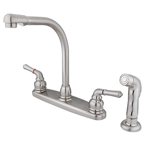 Design Magellan Centerset - Elements of Design Magellan EB758SP High Arch Kitchen Faucet with Sprayer, 8-Inch, Brushed Nickel