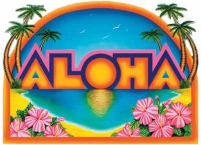 Aloha Sign Party Accessory (1 count) by Beistle