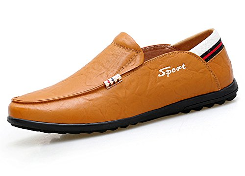 Lapens Men's Driving Shoes Premium Genuine Leather Fashion Slipper Casual Slip On Loafers Shoes LPMLFS2030-YB43