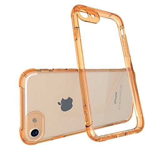 Xeber iphone 7 case shell transparent acrylic case air cushion anti-crash shell creative soft edge (iphone 7, Gold) - Creative Color Guard Costumes