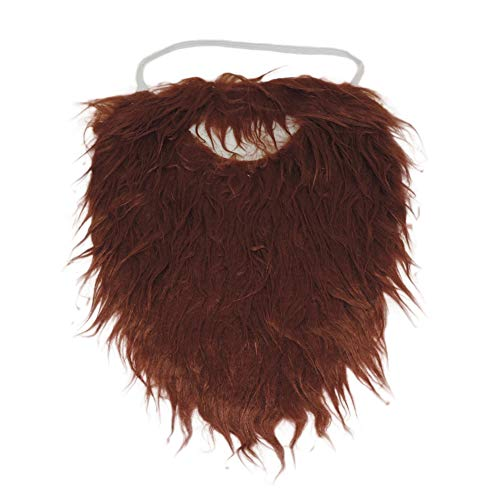 Brown Full Beard and Mustache Costume Accessory ,Brown ,One Size