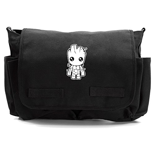 - Baby Groot Guardians of the Galaxy Canvas Messenger Shoulder Bag, Black &White