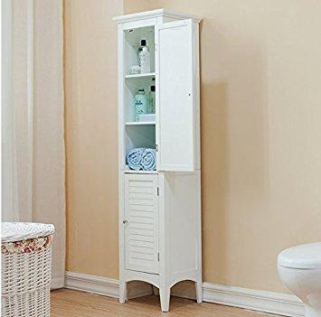 Bayfield Bathroom White 2-door Linen Tower