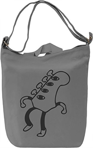 Guitarhead Borsa Giornaliera Canvas Canvas Day Bag| 100% Premium Cotton Canvas| DTG Printing|