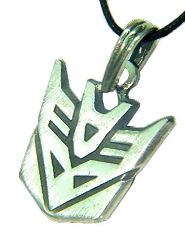 BUTW Transformers Decepticon Symbol Pewter Pendant Necklace