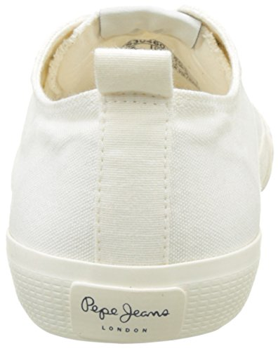 Pepe Jeans London Industry Low Basic, Zapatillas para Mujer Blanco (Off White)