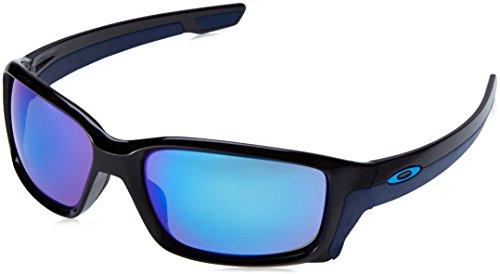 Oakley Mens Straightlink Sunglasses, Polished Black/Sapphire Iridium, One Size (Oakley Uv Sunglasses)