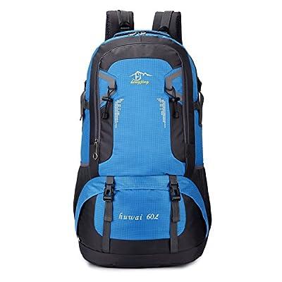 Sac à Dos Randonnée 60L, Sac Trekking Imperméable Pour Voyage Randonnée Camping Trekking Alpinisme Etc Blue