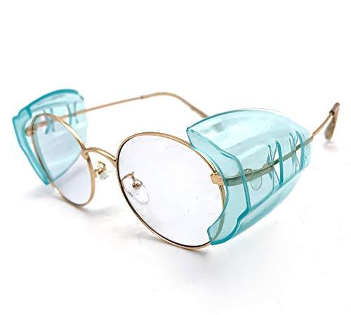 Wanty Universal B52/B26+ Wing Mate Safety Glasses Side Shields - Fits Small/Medium/Large Eyeglasses (Blue 4Pcs M) ()