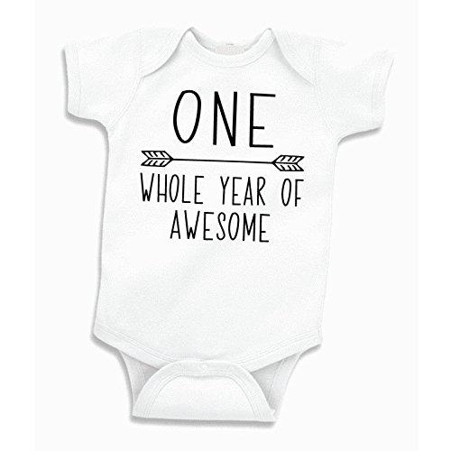 Bump and Beyond Designs Boy Birthday Shirt, Baby Boy First Birthday Bodysuit