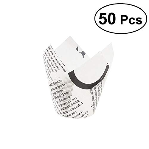 Bake Cup - 50 Pcs Thicken Spaper Tulip Cupcake Wrappers Liners Muffin Cases Cake Cup Party Favors - Favor Cake Kids Boys Favors Adults Party Gift Bags Wrapping Supplies Lotus Abstract Cake Birthd