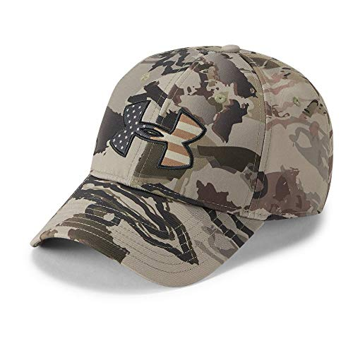 Under Armour Men's Camo Big Flag Logo Cap, Ua Barren Camo (999)/Charcoal, One Size