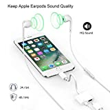 Pilloit Compatible Headphone Splitter Cable Earphone Accessories Jack Adaptor Audio&Charge&Call&Music Function Compatible Replacement for Phone 7/7Plus/X10 8/8Plus