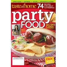 Party Food magazine by Taste of Home. 74 Recipes for Great Gatherings. All on Recipe Cards.