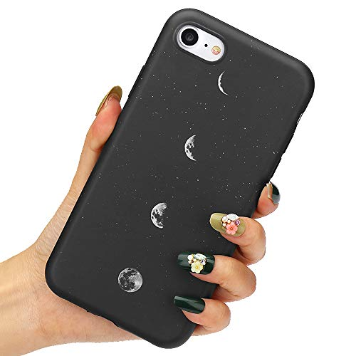 LLZ.COQUE for iPhone 8 Case / 7 Case, Lunar Eclipse Moon Space Planet Black Silicone Slim-Fit Anti-Scratch Anti-Finger Print Shock Proof Smooth Soft TPU Gel Case for iPhone 8 iPhone 7 (Coque Iphone)
