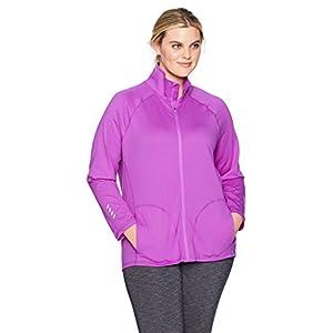 Just My Size Women's Plus Size Active Full-Zip Mock Neck Jacket 20
