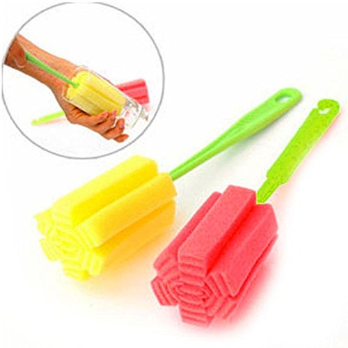 1 pcs Useful Sponge Brush Glass Bottle Cup Washing Cleaning Kitchen Cleaner Tool