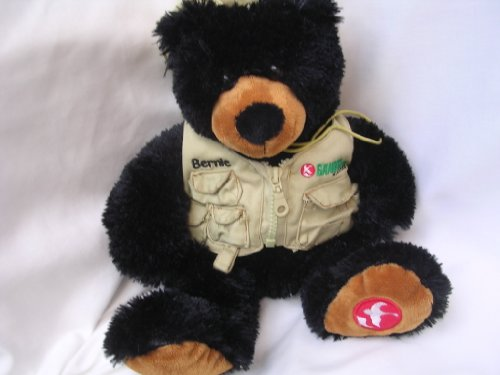 "Teddy Bear Black Plush Toy 15"" Collectible ; Gander Mount..."