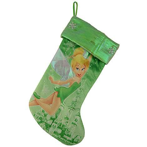Disney Park Tinkerbell Tinker Bell Christmas Holiday Stocking NEW