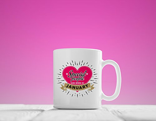 January Mug, Special People are Born in January, January Coffee Mugs, January Birthday Mug, January birthday gifts, 11oz, 15oz, - Fun In Holidays January