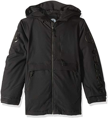 Volcom Boys' Big Holbeck Insulated 2 Layer Shell Snow Jacket, Black Extra Small