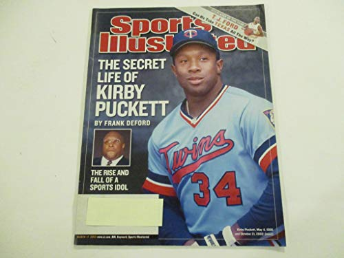 MARCH 17, 2003 SPORTS ILLUSTRATED FEATURING KIRBY PUCKETT OF THE MINNESOTA TWINS *THE SECRET LIFE OF KIRBY PUCKETT -BY FRANK DEFORD* *THE RISE AND FALL OF A SPORTS IDOL* MAGAZINE
