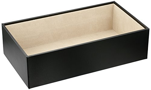 Wolf Designs 435202 Vault Series Extra Deep Jewelry Tray, Black