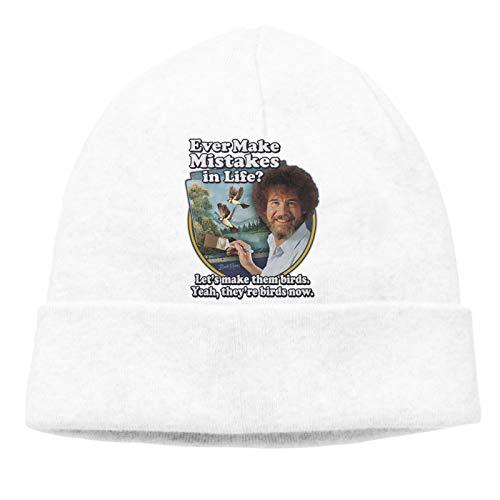 B-ob Ross Hat Unisex Beanie Caps Skull Cap Knitting Warm Winter Hat Skullies & Beanies White