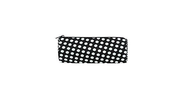 Bennigiry - Estuche para lápices, diseño de lunares, color blanco y negro: Amazon.es: Oficina y papelería