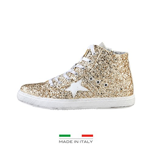 Woz DM1801_PLATINO Damenschuhe Sneakers Boots Stiefeletten, Gr. 40, 41