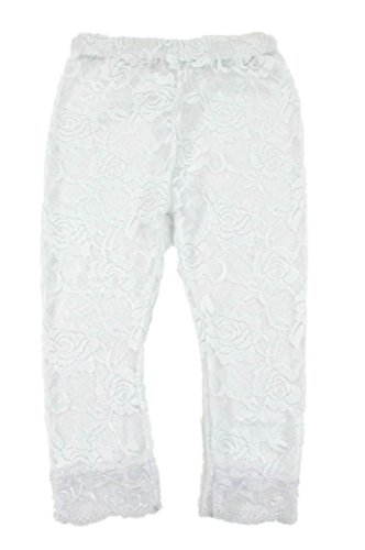 Lace Leggings Infant Toddler (12-24 months, White)