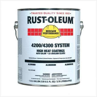 High Performance 4200/4300 System High Heat Coatings Style: Cap. Vol.:2gal, Color:Aluminum, Price for 1 KT