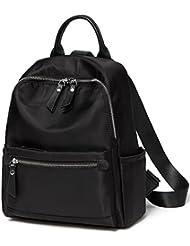 TINGLAN Black Nylon Small Backpacks for Women Fashion Daypack Girls School Bag