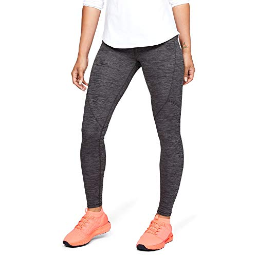 Under Armour Women's Coldgear Armour Legging, Charcoal Light Heath (019)/Metallic Silver, Small