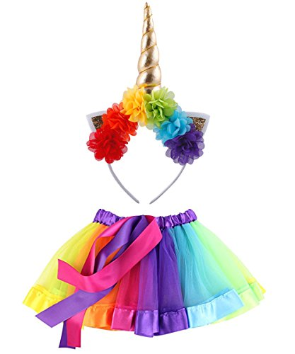 2-5 Years Little Girls Layered Rainbow Tutu Skirts