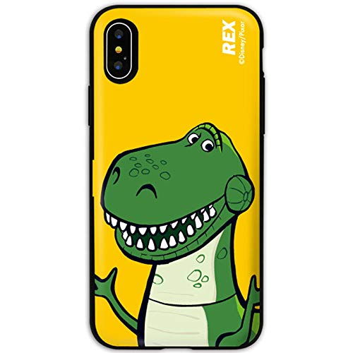 Toy Story 4 / Card Holder/Mirror/Door Bumper Case for Apple iPhone Xs/iPhone X (Rex)