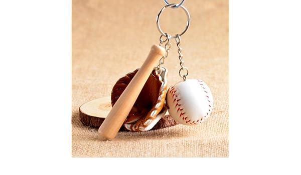 Amazon.com  Wanrane Women s Supplies Modern Stylish Pendant Modern Mini  Baseball Bat Glove Set Keychain Keyring Handbag Pendant - Coffee  Toys    Games a6433f4f1f